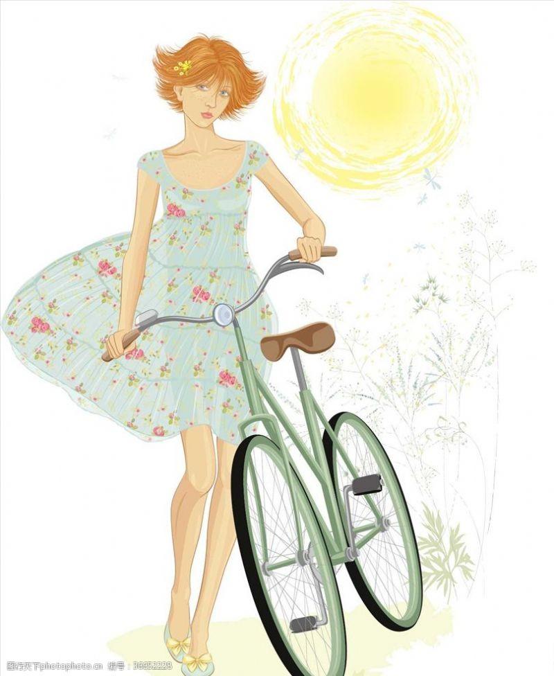 外国女人单车女人