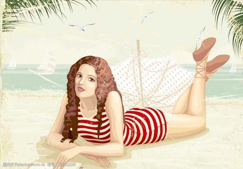 外国女人沙滩女人