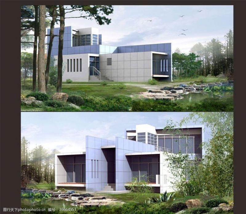 cad素材现代别墅整套施工图