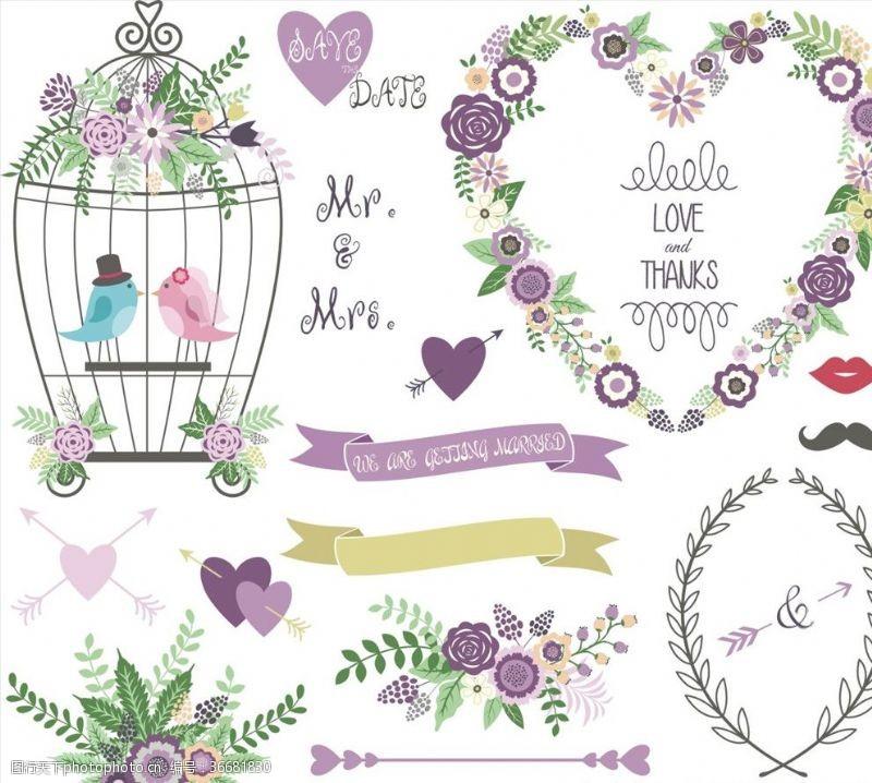 纯美花环唯美紫色