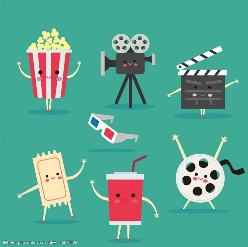 3d电影可爱创意电影主题卡通形象设计