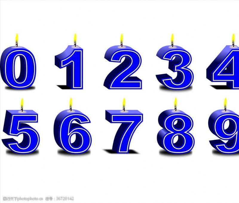 周年数字号码蜡烛