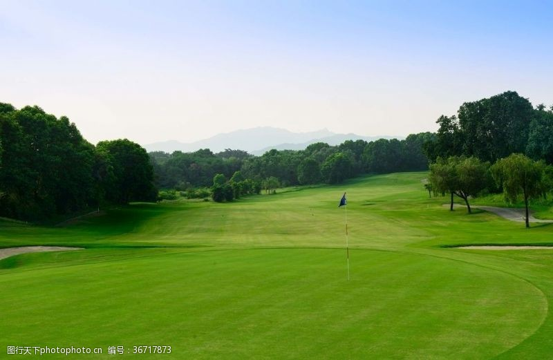 美丽的高尔夫果岭