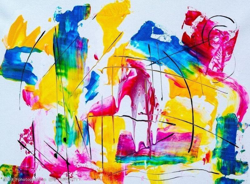 张力抽象泼彩装饰背景