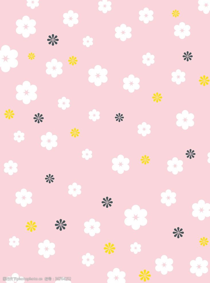 樱花图案平铺花朵背景