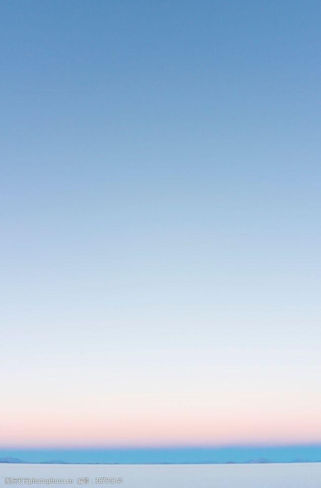 纯净清新色彩天空