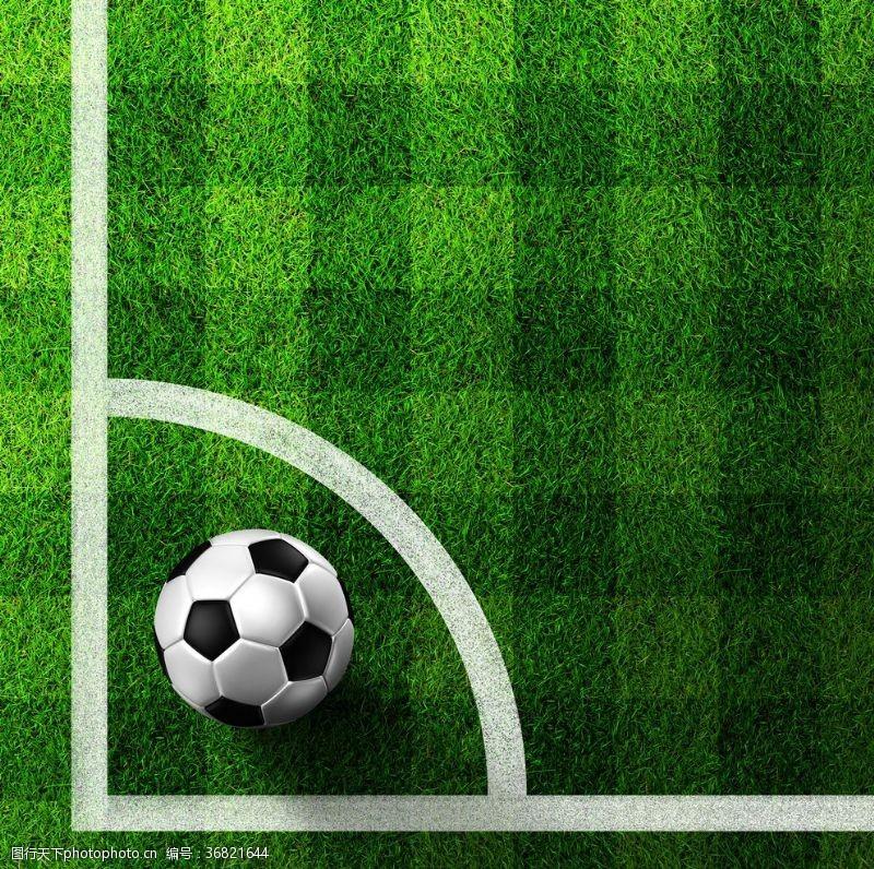 足球场草坪角球