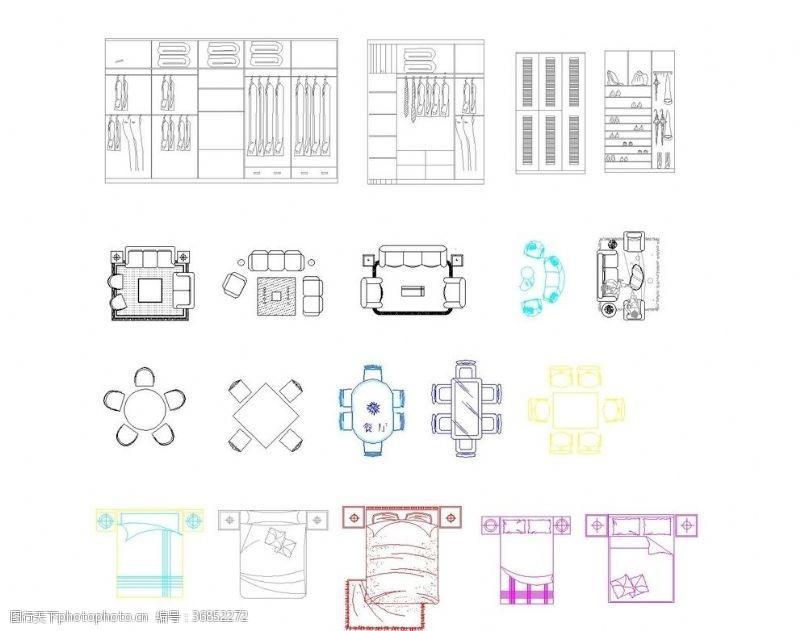 cad素材CAD常用素材图库大全