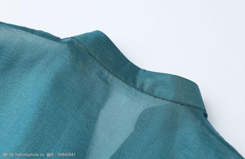 服装绣花透明网纱布料特写