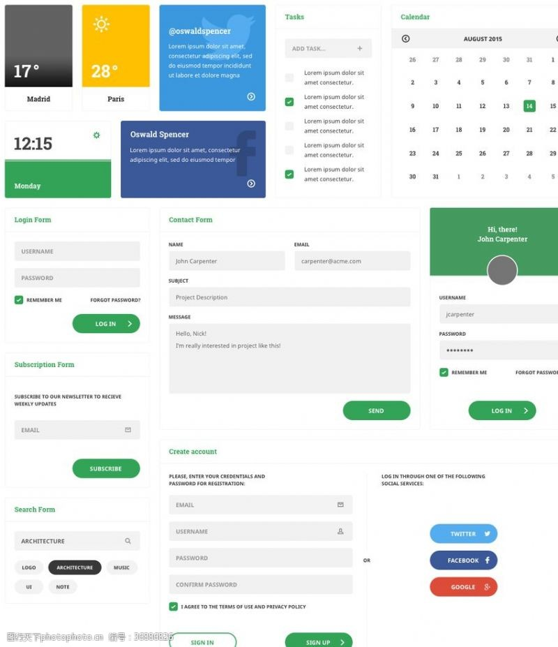 ui源文件网站设计元素