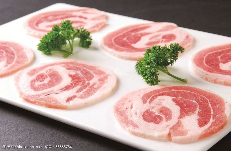 生烤猪五花