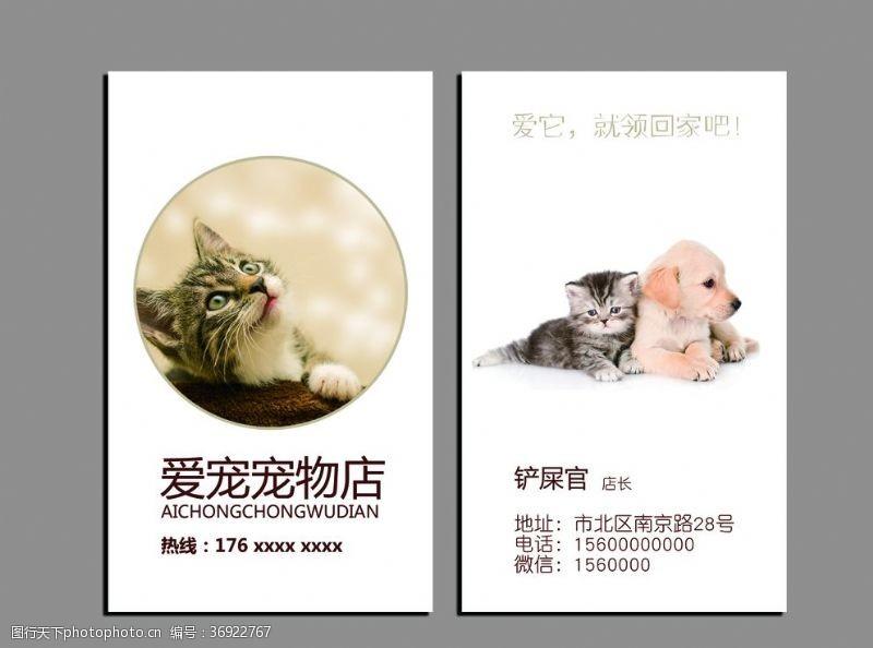 动物园名片宠物店名片