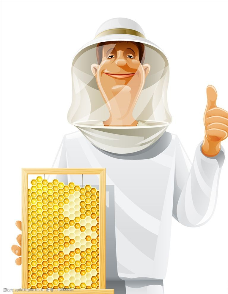 竖拇指养蜂人