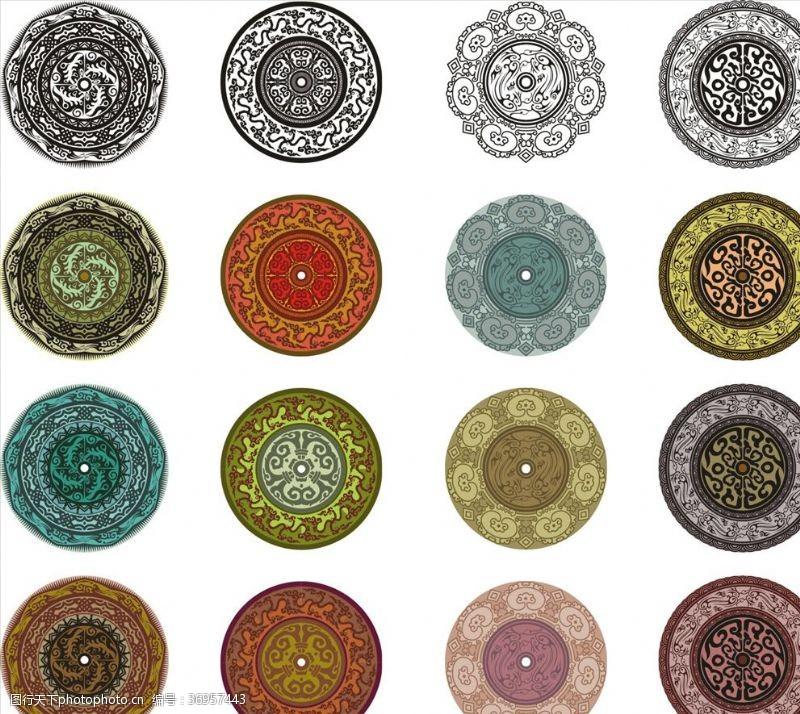 矢量传统图案花纹