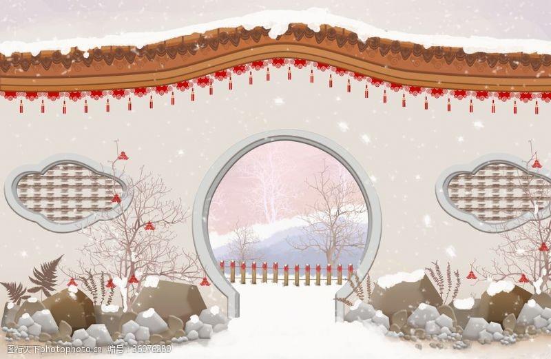 中国水墨节气国潮文化