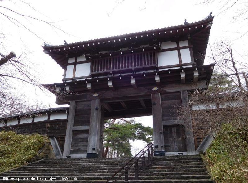 日式仿古大门