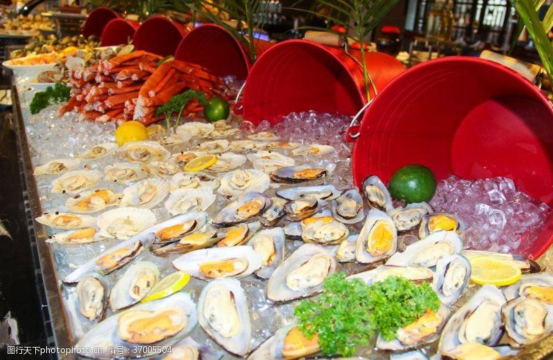 海鲜大餐扇贝