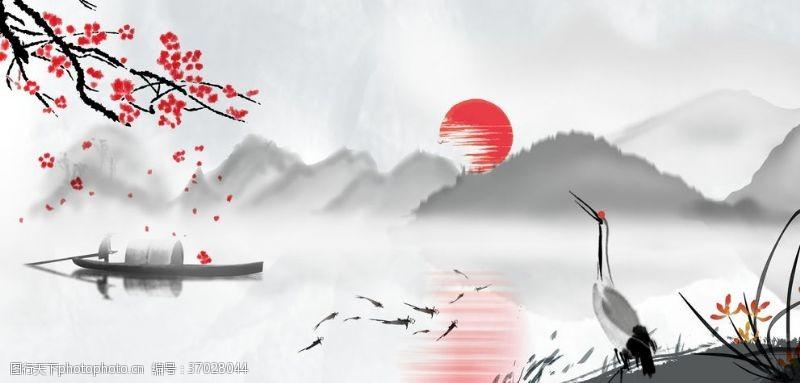 展板底板中国风背景