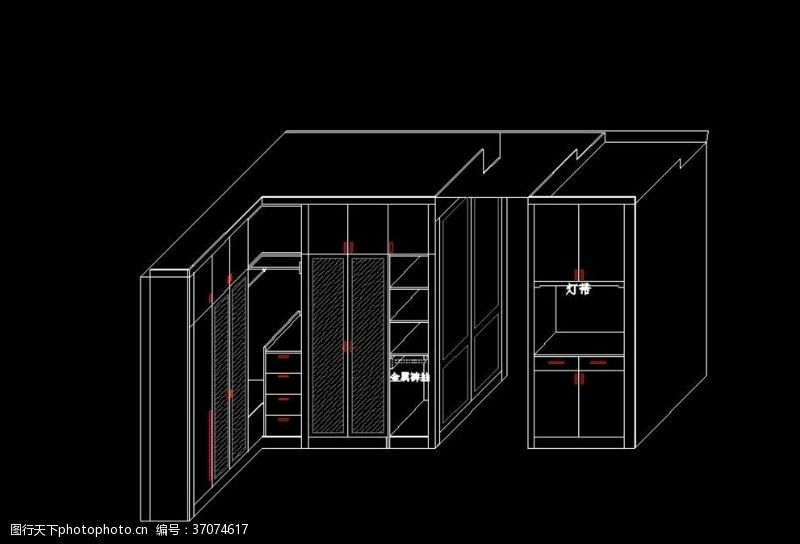 门市样品转角衣柜设计方案