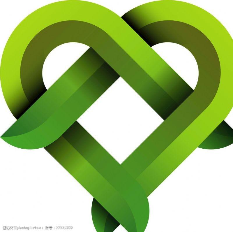 药品及保健品绿色环保绿叶植物爱心nN
