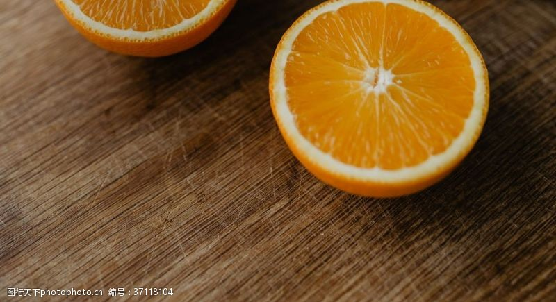 水果背景素材橙子切开的香橙