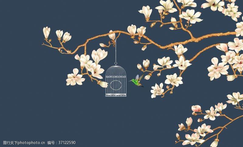 梅花手绘花鸟