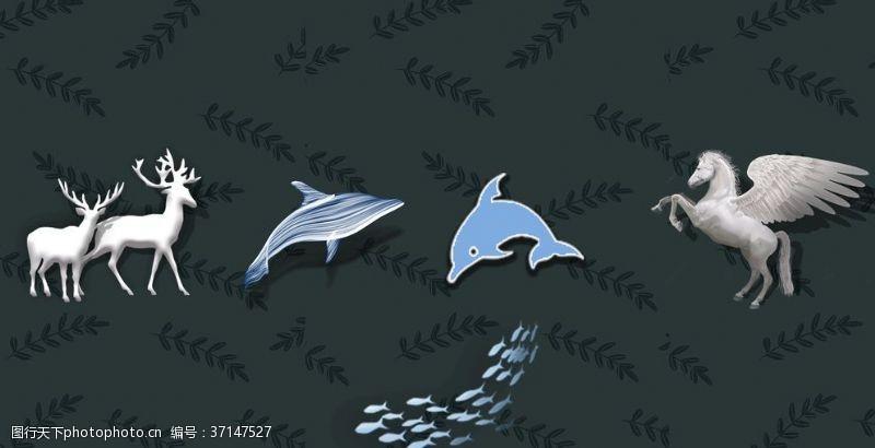 海洋鱼动物