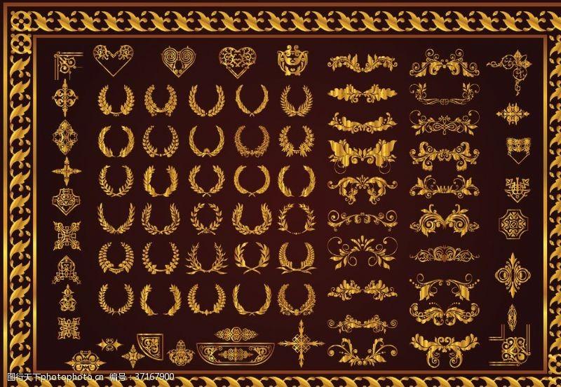欧式花纹底纹古典纹饰