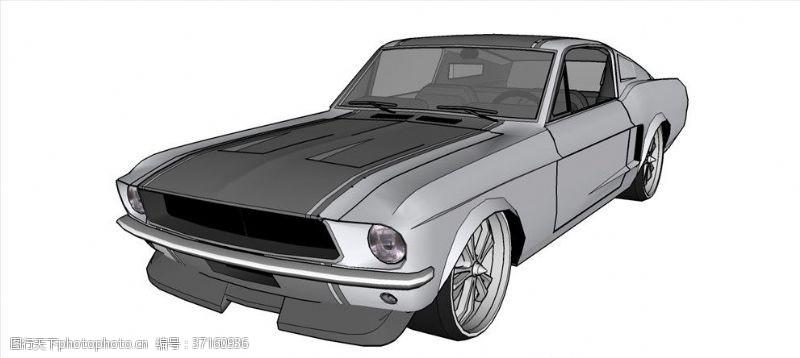 gt野马GT小改款车模型