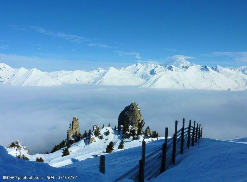 冬季运动法国滑雪