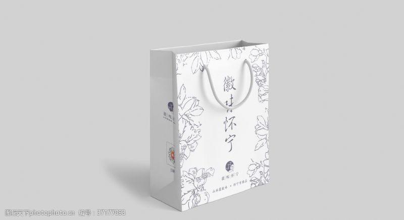 望春花礼袋伴手礼盒设计样机