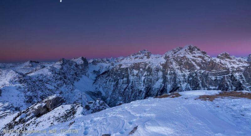 登山运动雪山冰川积雪