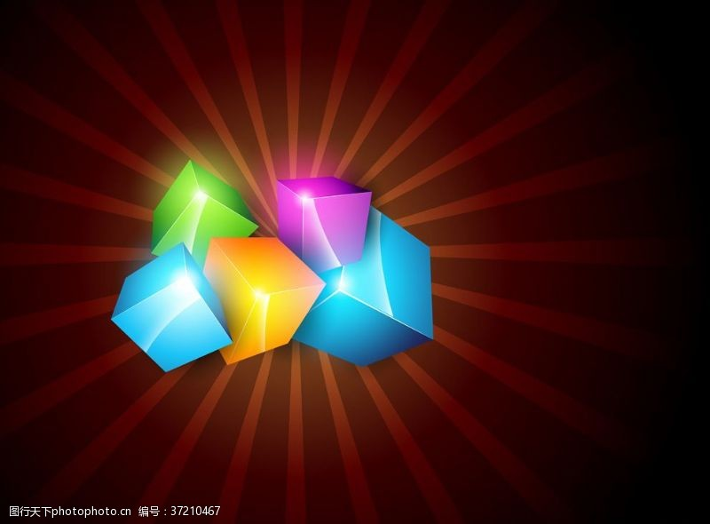 梦幻背景底纹3d动感几何体梦幻背景