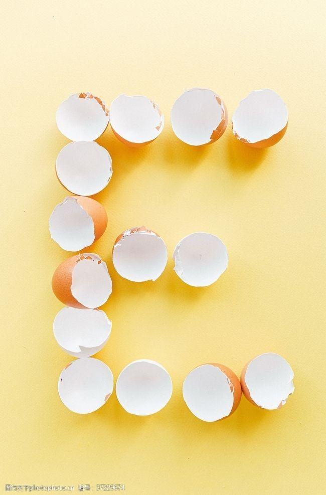 黄色背景素材蛋壳