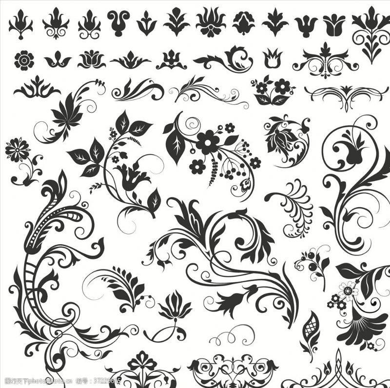 欧式花纹底纹广告