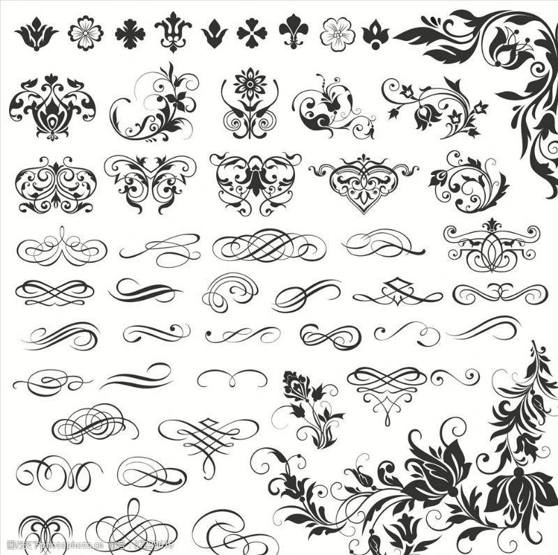 欧式花纹底纹背景