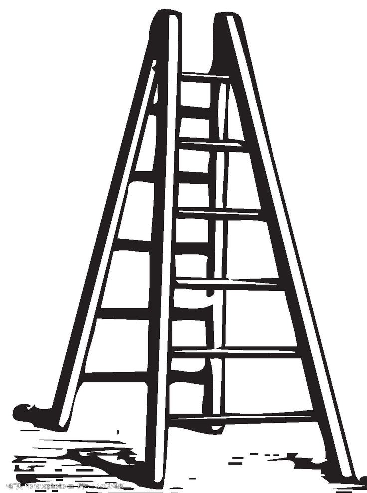 卡通梯子梯子