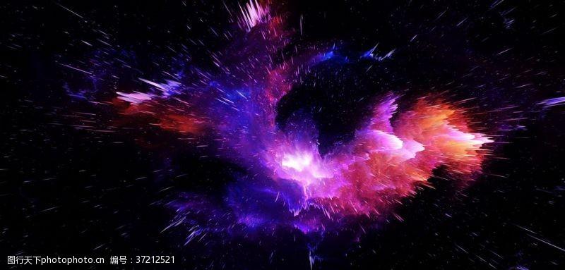 宇宙炸裂飞溅渐变运动抖音素材