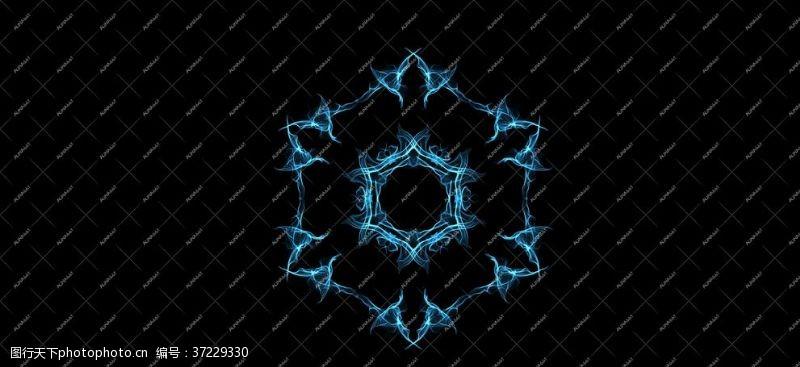 炫光花蓝光特效花纹