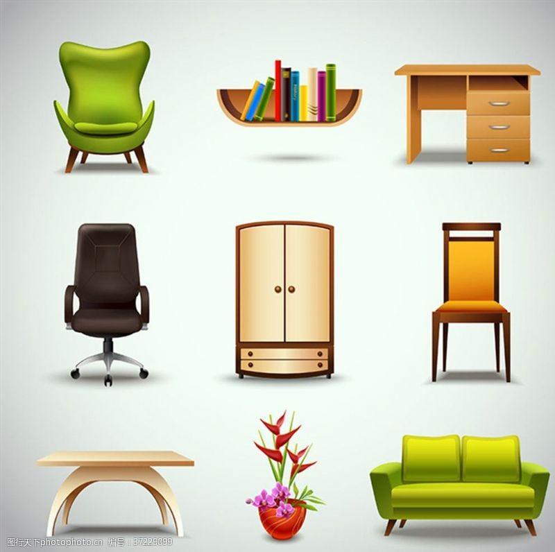 木质家具矢量家具素材