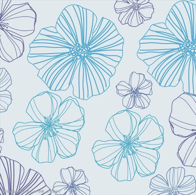 矢量花纹背景现代植物花纹背景
