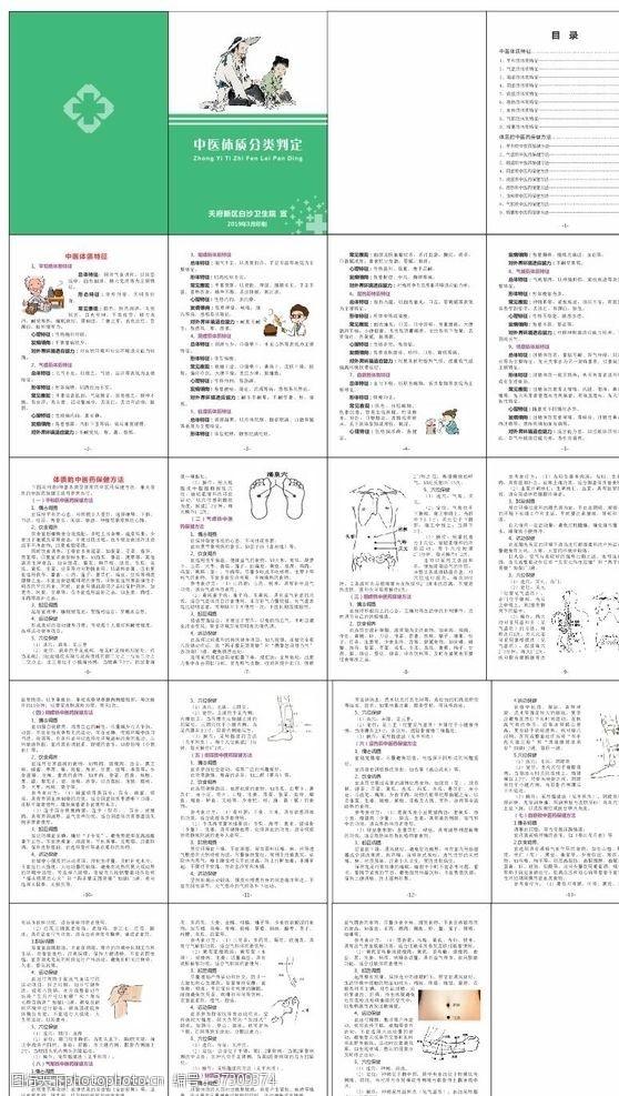 医院手册中医体质
