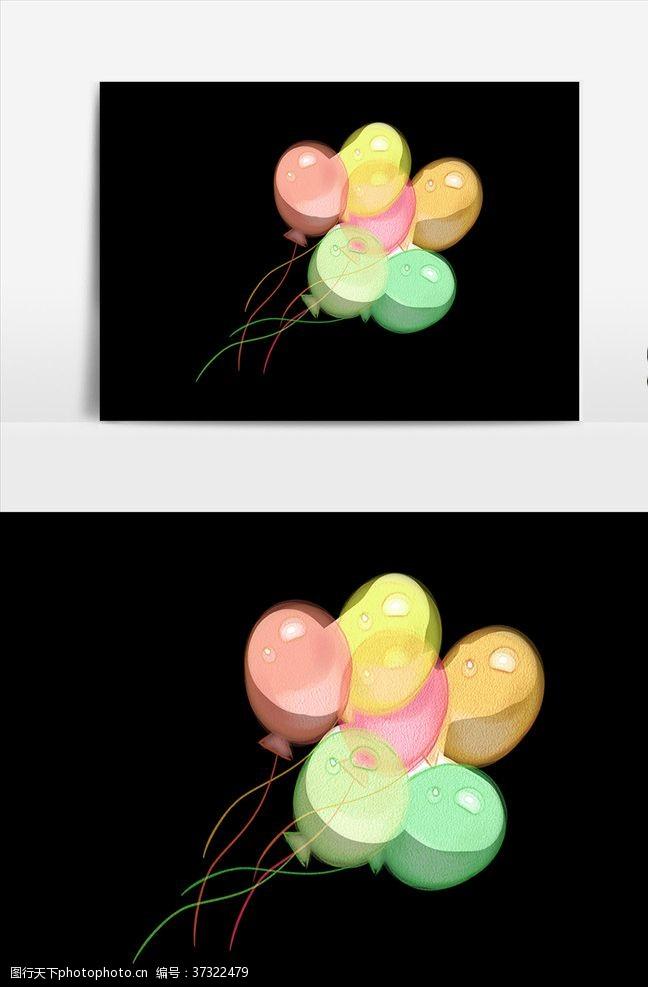 彩色气球手绘气球
