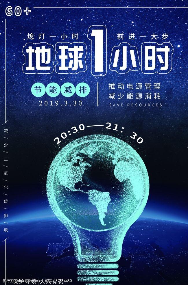 地球日展板地球1小时