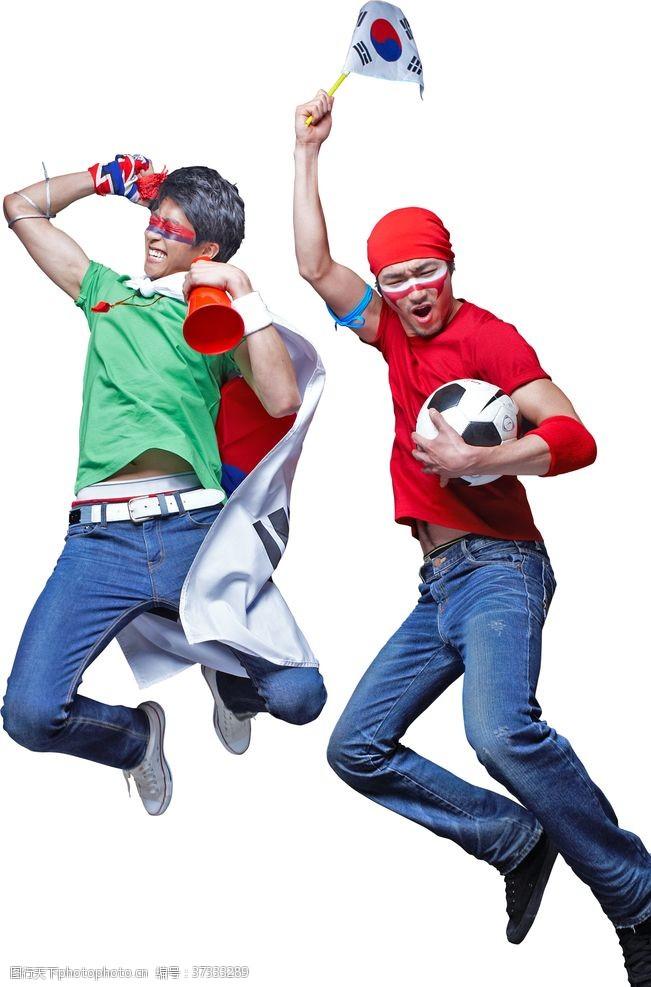 足球员健身运动人物