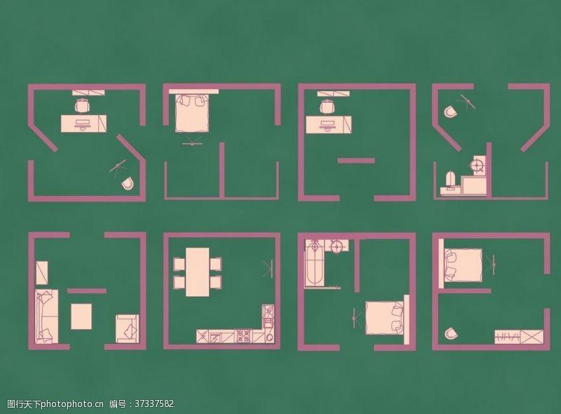 室内设计平面图建筑户型图设计