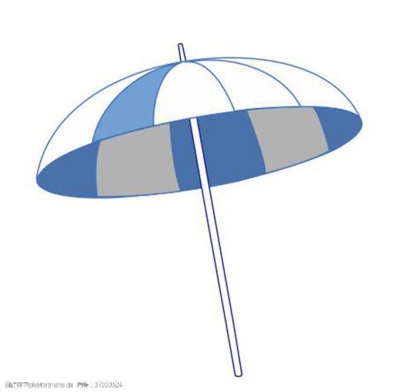 大伞蓝色白色间隔沙滩伞雨伞太阳伞
