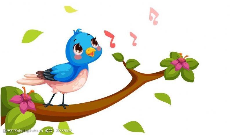 树枝小鸟唱歌