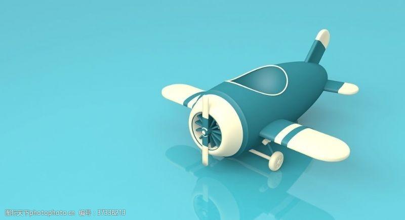 易拉宝素材飞机玩具模型素材节日