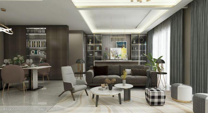 板式家居轻奢客厅